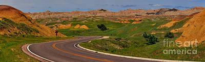 Badlands National Park Scenic Drive Poster by Adam Jewell