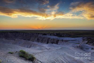 Badlands Sunset Overlook Poster