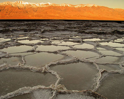 Badwater Sunrise-death Valley Poster