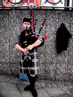 Poster featuring the photograph Bagpipe by Janelle Dey