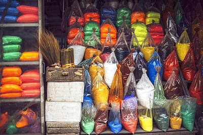 Bags Of Paint Powder Colors Hanoi Vietnam Poster by Eduardo Huelin