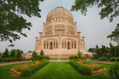 Baha'i Temple - Wilmette - Illinois Poster by Photography  By Sai