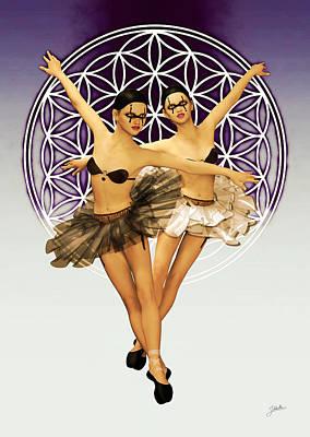 Bailarinas Malignas Poster by Joaquin Abella