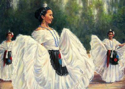 Baile De Las Velas - Candle Dance Poster by Vickie Fears