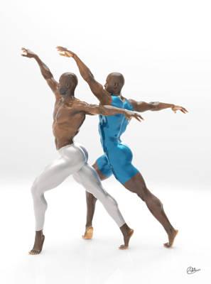 Baile Sincronizado Poster by Joaquin Abella