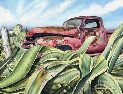 Baja Rust Poster by James Stanley