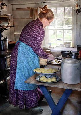 Baker - Preparing Dinner Poster by Mike Savad