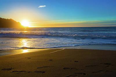 Baker Beach Sunset Poster