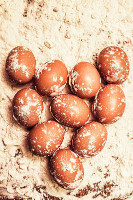 Baking With Flour And Eggs Poster by Jorgo Photography - Wall Art Gallery