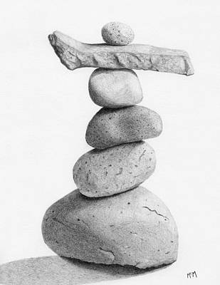 Balance 4  Drawing  Poster by Garry McMichael