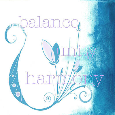 Balance Poster by Kandy Hurley