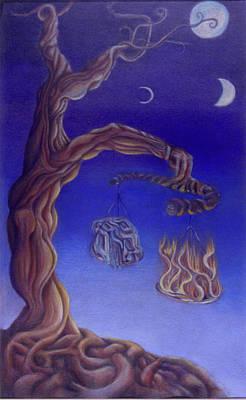 Balance Of Fire And Water Poster by Natalia Kadish