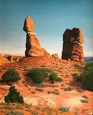 Balanced Rock At Arches National Park Poster