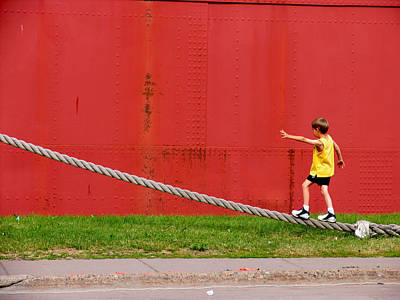Balancing On Harbor Time Poster