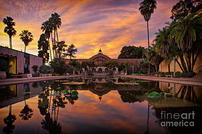 Balboa Park Botanical Building Sunset Poster