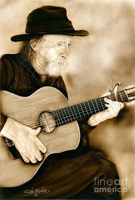 Balboa Park Guitarist Poster