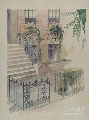 Balcony Poster by Gilbert Sackerman