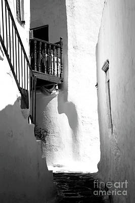 Balcony In The Shadow Infrared Poster by John Rizzuto