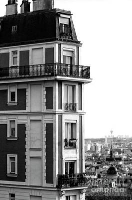 Balcony View In Montmartre Poster