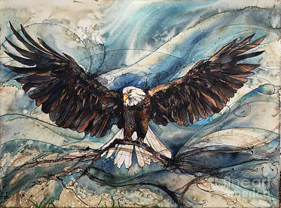 Poster featuring the painting Bald Eagle by Christy Freeman