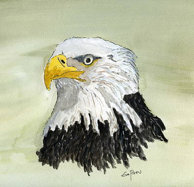 Poster featuring the painting Bald Eagle by Eva Ason