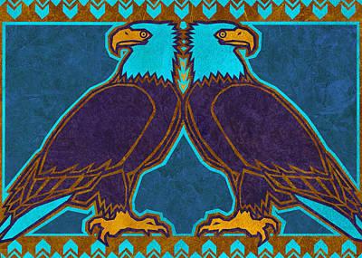 Bald Eagles Poster by Linda Henry