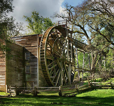 Bale Grist Mill Poster by Stan Angel