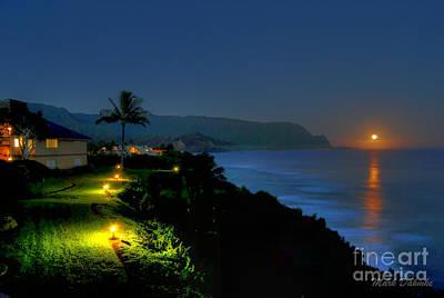 Bali Hai Moonset Poster