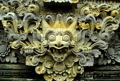 Bali Temple Art Poster by Jerry McElroy
