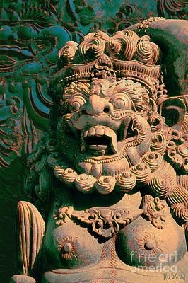 Balinese Hindu Temple Guardian Art Photography - Bali Guardian II Poster