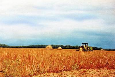 Baling Hay Poster by Jan Amiss