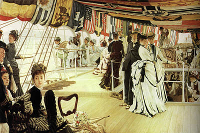 Ball On Shipboard Poster by James Tissot