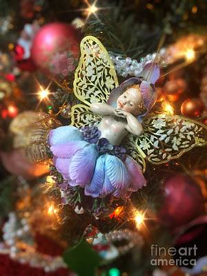 Ballerina Angel Christmas Ornament Poster