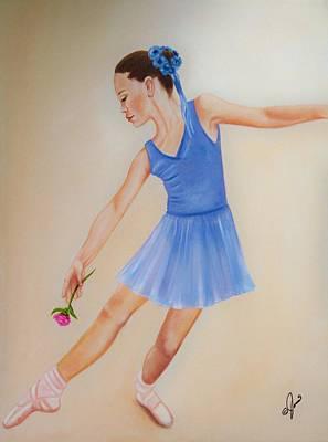 Ballerina Blue Poster