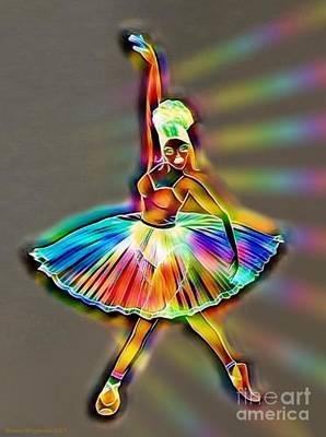 Ballerina Bright Lights Poster