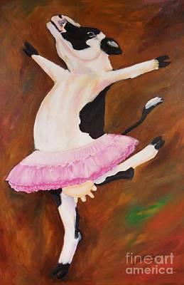 Ballerina Cow Poster