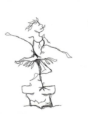 Ballerina- Cracked Pot Poster