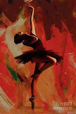 Ballerina Dance 0800 Poster by Gull G