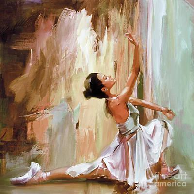 Ballerina Dance Art 99ew Poster by Gull G