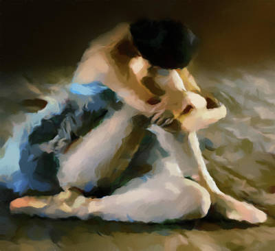 Ballerina In Repose Abstract Realism Poster