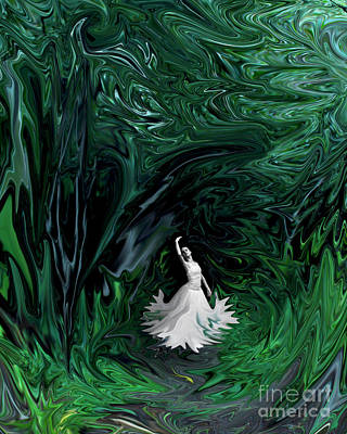 Poster featuring the photograph Ballerina In Wonderland by Rebecca Margraf