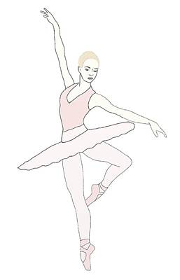 Ballerina On Point Poster by Priscilla Wolfe