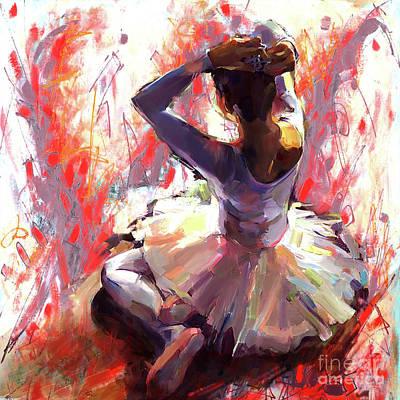 Ballet Dancer Siting  Poster by Gull G