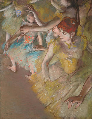 Ballet Dancers On The Stage 1883 Poster by Edgar Degas