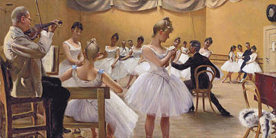 Ballet School By Paul Gustave Fischer 1889 Poster by Movie Poster Prints