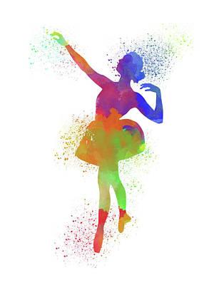 Ballet Watercolor 1 Poster