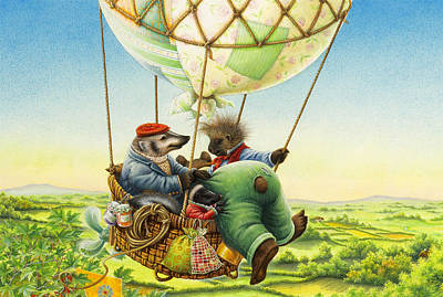 Ballon Ride Poster by Lynn Bywaters