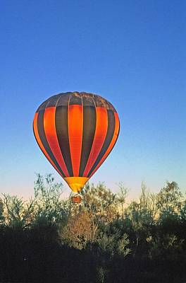 Poster featuring the photograph Balloon Launch by Gary Wonning