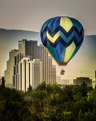 Balloon Over Reno Poster
