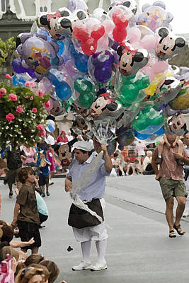 Balloon Vendor At Magic Kingdom No. 2 Poster by Christopher Purcell